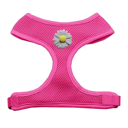 White Daisies Chipper Pink Harness Small