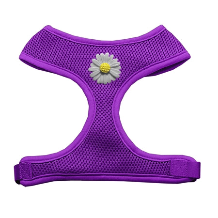 White Daisies Chipper Purple Harness Large