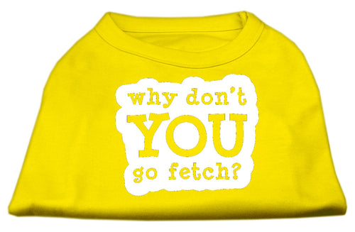You Go Fetch Screen Print Shirt Yellow XXXL (20)