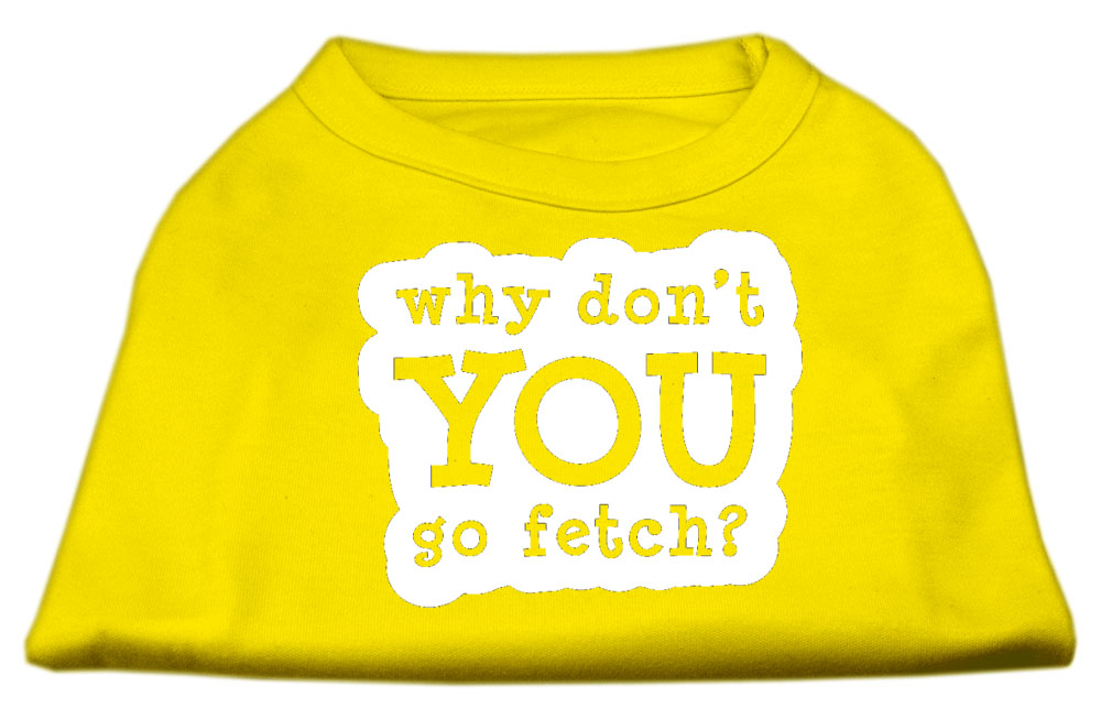 You Go Fetch Screen Print Shirt Yellow XXL (18)