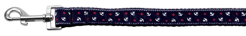 Anchors Nylon Ribbon Leash Blue 1 inch wide 6ft Long