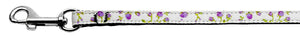 Roses Nylon Ribbon Leash Purple 3/8 inch wide 4ft Long