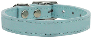 Plain Leather Collars Baby Blue 20