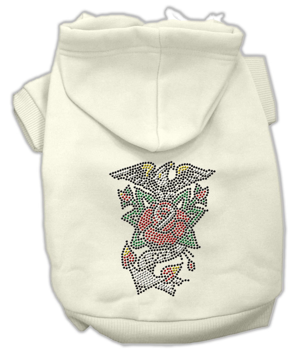 Eagle Rose Nailhead Hoodies Cream XXL (18)
