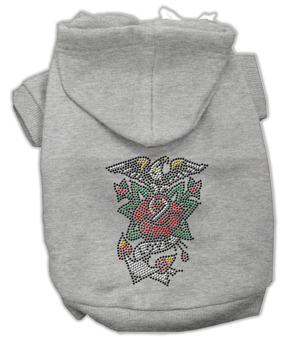 Eagle Rose Nailhead Hoodies Grey XS (8)
