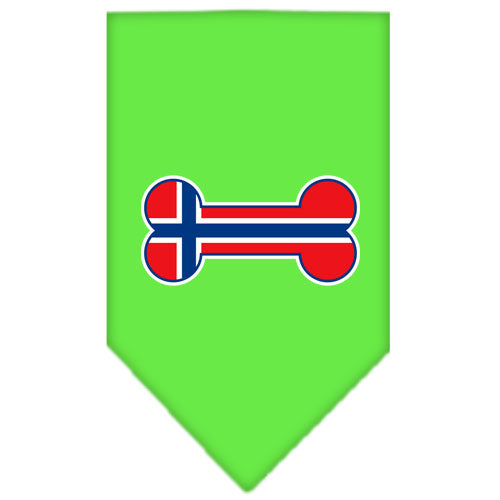 Bone Flag Norway  Screen Print Bandana Lime Green Large