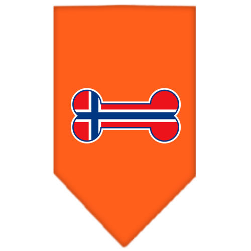 Bone Flag Norway  Screen Print Bandana Orange Large
