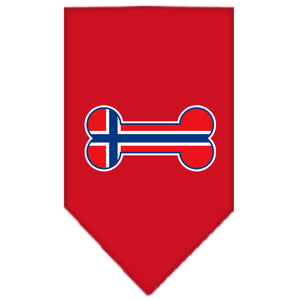 Bone Flag Norway  Screen Print Bandana Red Small