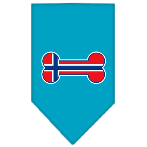 Bone Flag Norway  Screen Print Bandana Turquoise Large