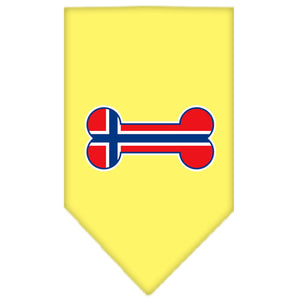 Bone Flag Norway  Screen Print Bandana Yellow Small