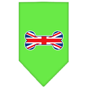 Bone Flag UK  Screen Print Bandana Lime Green Large