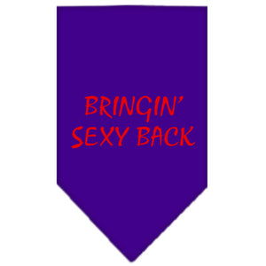 Bringin Sexy Back Screen Print Bandana Purple Large