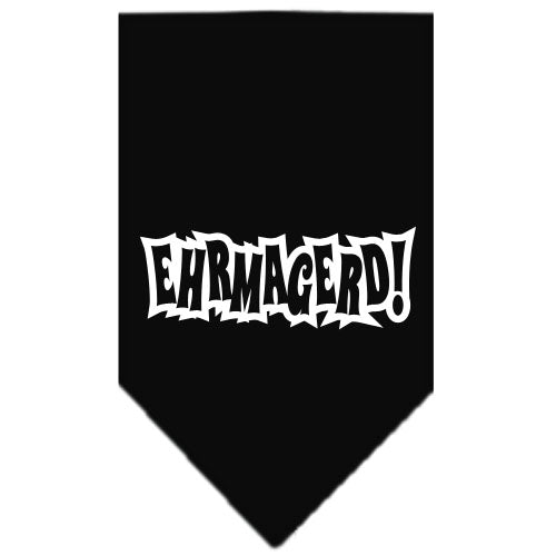 Ehrmagerd Screen Print Bandana Black Large
