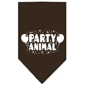 Party Animal Screen Print Bandana Cocoa Small