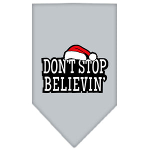 Dont Stop Believin Screen Print Bandana Grey Small