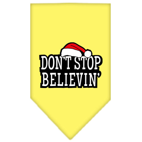 Dont Stop Believin Screen Print Bandana Yellow Small