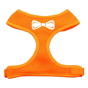 Bow Tie Screen Print Soft Mesh Harness Orange Large