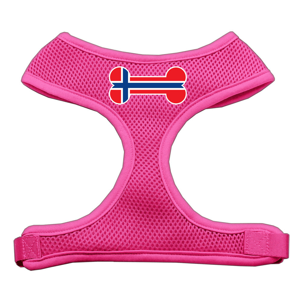 Bone Flag Norway Screen Print Soft Mesh Harness Pink Medium
