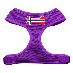 Bone Flag Norway Screen Print Soft Mesh Harness Purple Extra Large