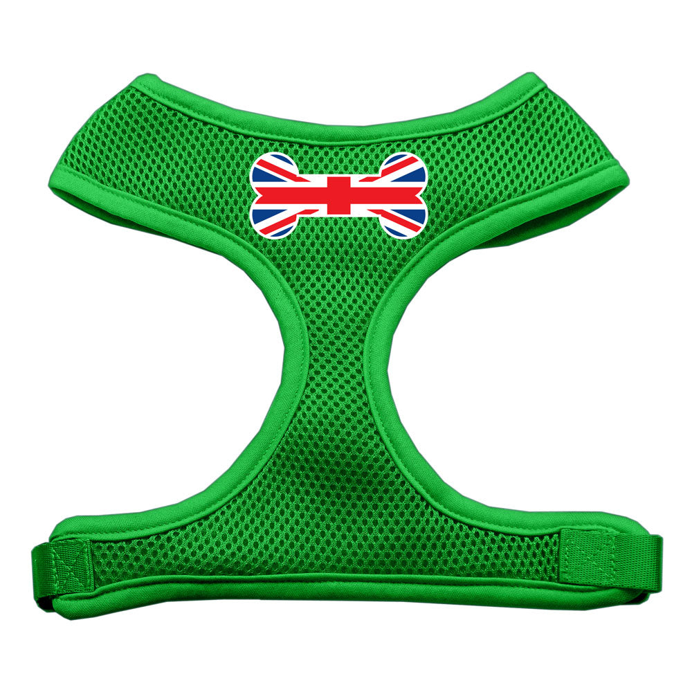 Bone Flag UK Screen Print Soft Mesh Harness Emerald Green Large