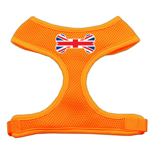 Bone Flag UK Screen Print Soft Mesh Harness Orange Extra Large
