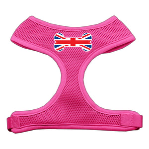 Bone Flag UK Screen Print Soft Mesh Harness Pink Extra Large