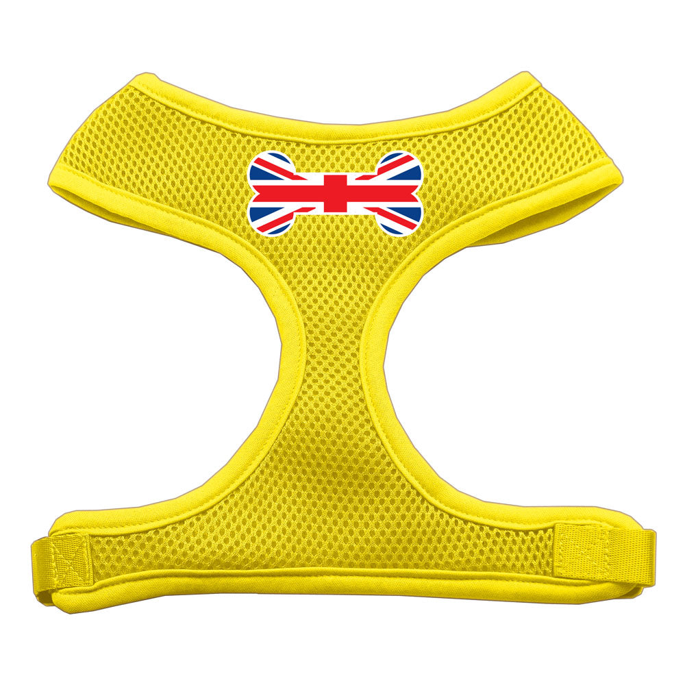 Bone Flag UK Screen Print Soft Mesh Harness Yellow Medium