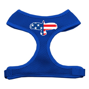 Eagle Flag  Screen Print Soft Mesh Harness Blue Extra Large