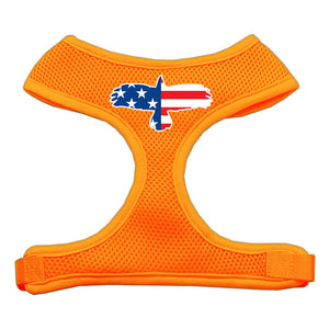 Eagle Flag  Screen Print Soft Mesh Harness Orange Large