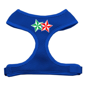 Double Holiday Star Screen Print Mesh Harness Blue Medium