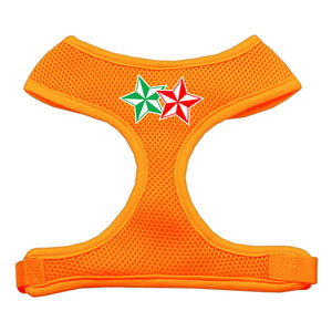 Double Holiday Star Screen Print Mesh Harness Orange Extra Large