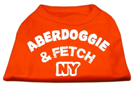 Aberdoggie NY Screenprint Shirts Orange Med (12)