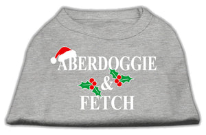 Aberdoggie Christmas Screen Print Shirt Grey XL (16)