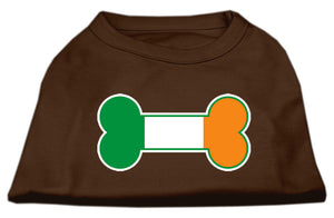 Bone Flag Ireland Screen Print Shirt Brown Lg (14)