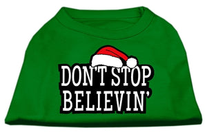Don't Stop Believin' Screenprint Shirts Emerald Green Med (12)