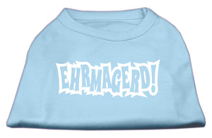 Ehrmagerd Screen Print Shirt Baby Blue Lg (14)