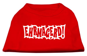 Ehrmagerd Screen Print Shirt Red XS (8)