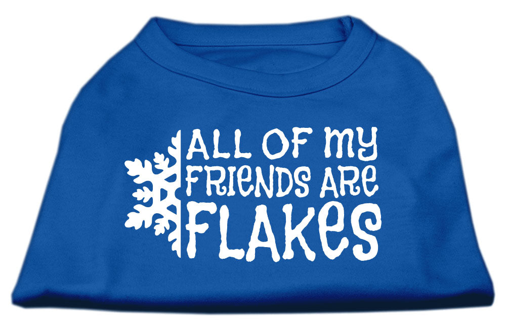 All my Friends are Flakes Screen Print Shirt Blue Lg (14)