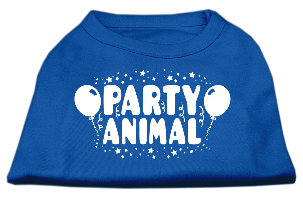 Party Animal Screen Print Shirt Blue XL (16)