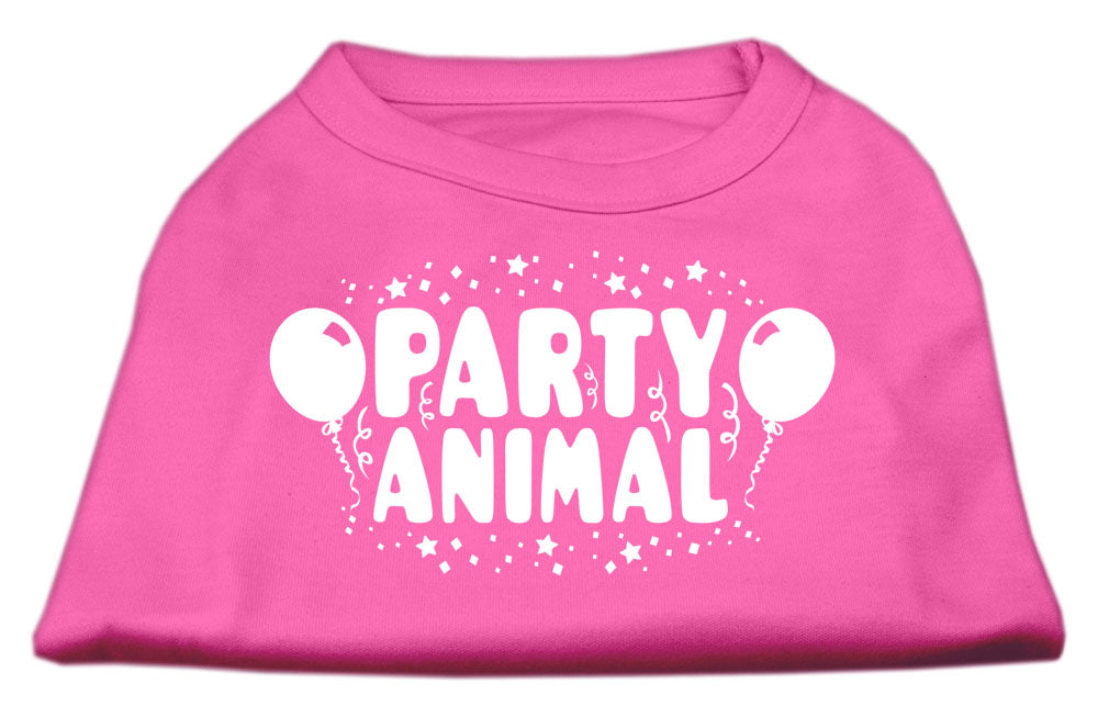 Party Animal Screen Print Shirt Bright Pink XS (8)