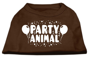 Party Animal Screen Print Shirt Brown Med (12)