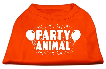 Party Animal Screen Print Shirt Orange XXL (18)