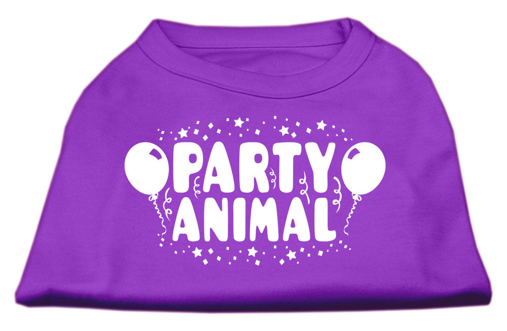 Party Animal Screen Print Shirt Purple Sm (10)