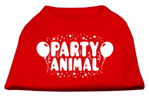 Party Animal Screen Print Shirt Red Lg (14)
