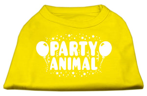 Party Animal Screen Print Shirt Yellow Sm (10)