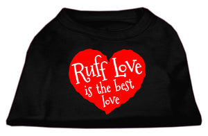 Ruff Love Screen Print Shirt Black Sm (10)