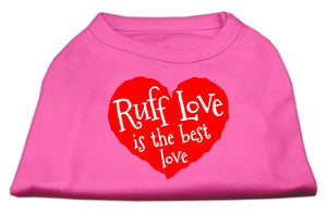 Ruff Love Screen Print Shirt Bright Pink Lg (14)
