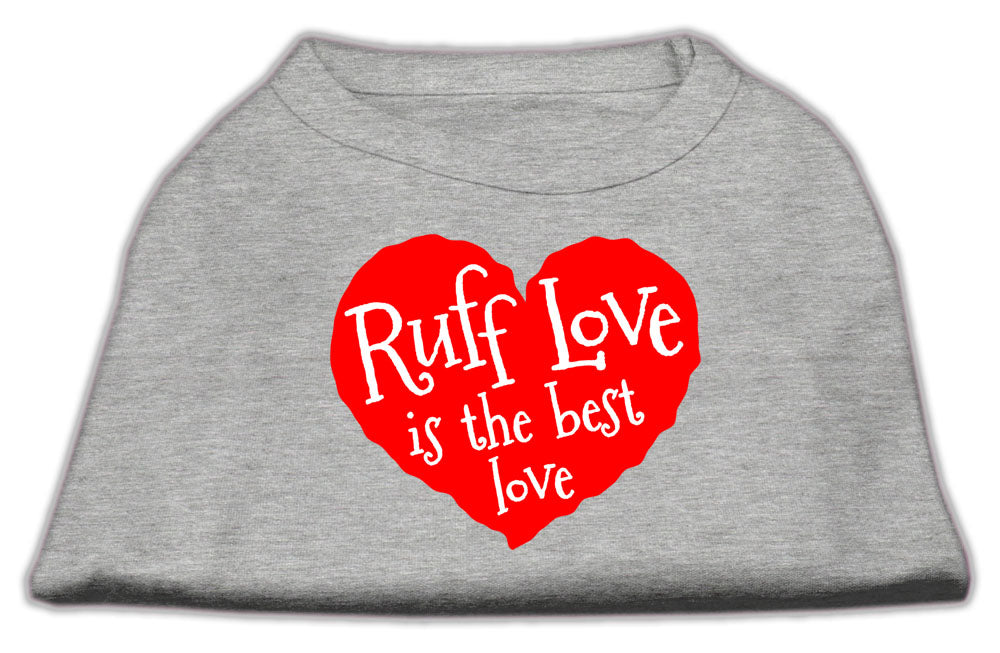 Ruff Love Screen Print Shirt Grey XL (16)