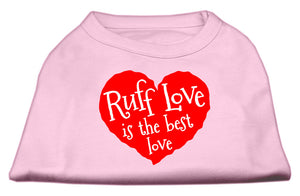 Ruff Love Screen Print Shirt Light Pink XS (8)