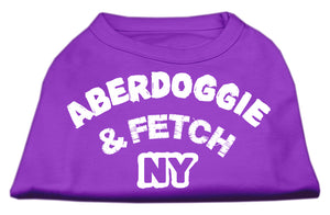 Aberdoggie NY Screenprint Shirts Purple XXL (18)
